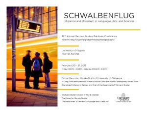 UVA German Grad Conference 2015